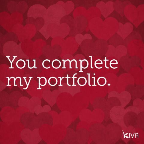You complete my portfolio.